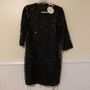 Boohoo Tassel Shift Dress (Plus)